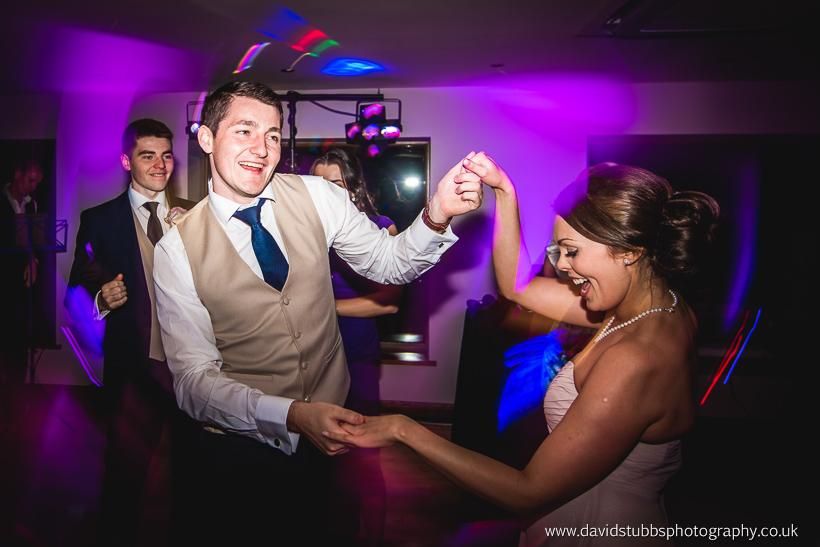 wedding guests celebrating