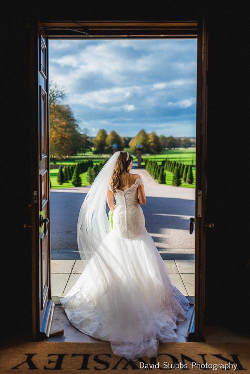 bride in hall doorway
