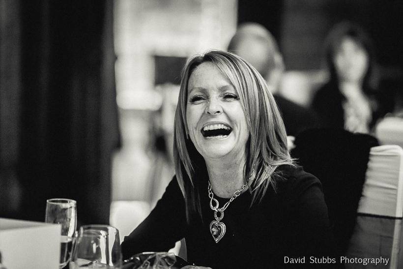 woman laughing at best man speech