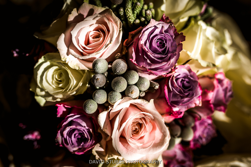 close up colour photo of bouquet of flowers