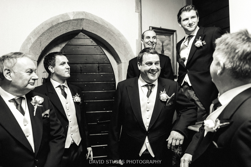 groomsmen after wedding ceremony