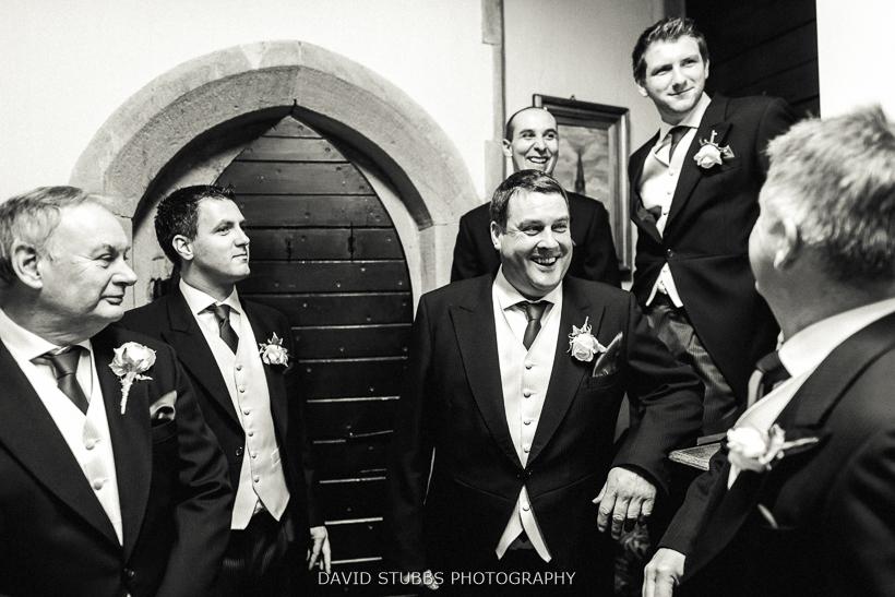 groomsmen after wedding ceremony