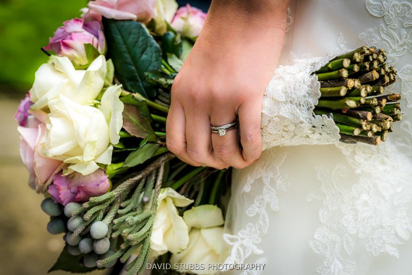 wife wearing wedding ring