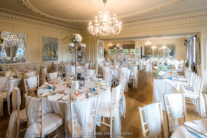 dining room at eaves hall wedding