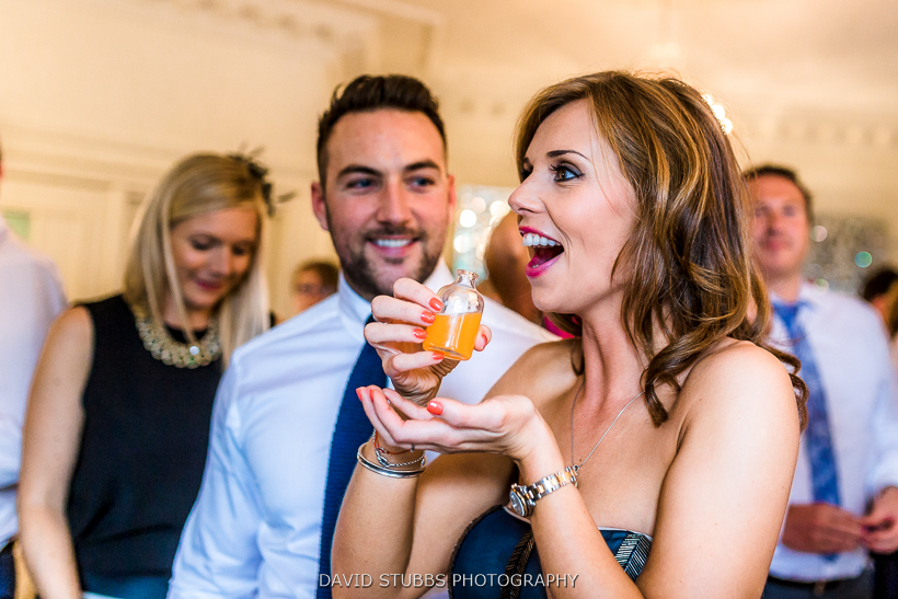 guests drinking at reception