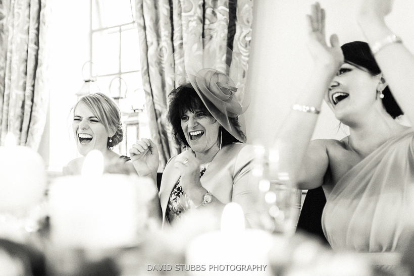 mother of the bride laughing and singing