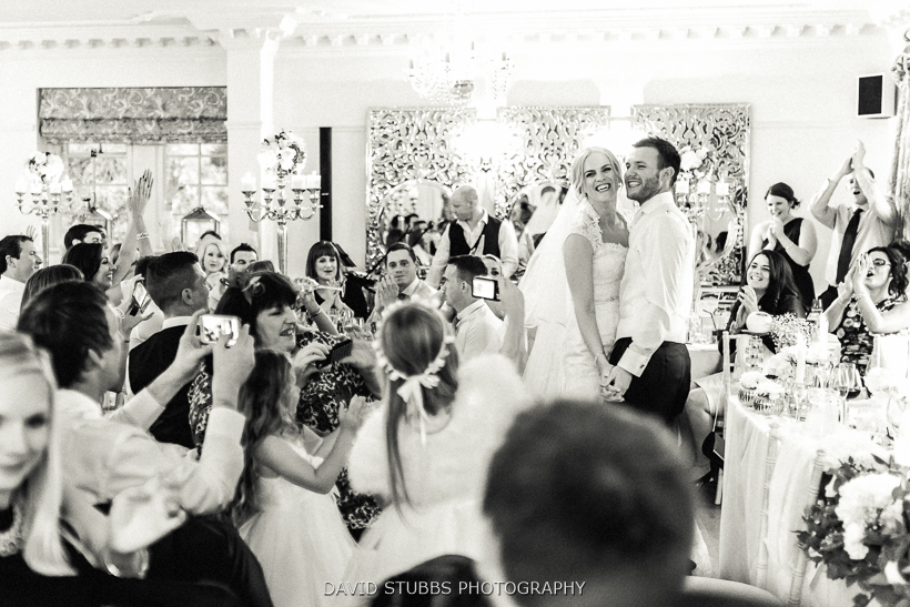 bride and groom during song
