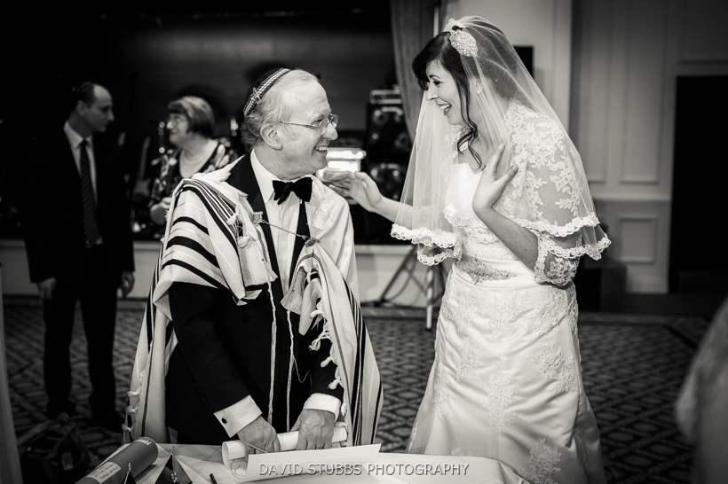 rabbi and bride