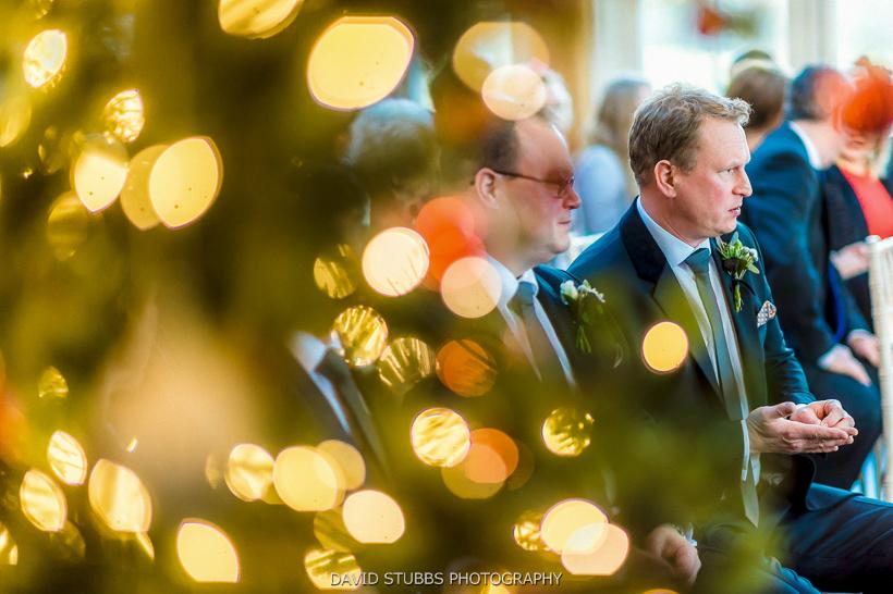 christmas tree lights at wedding