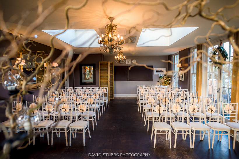 wedding ceremony room yorebridge house