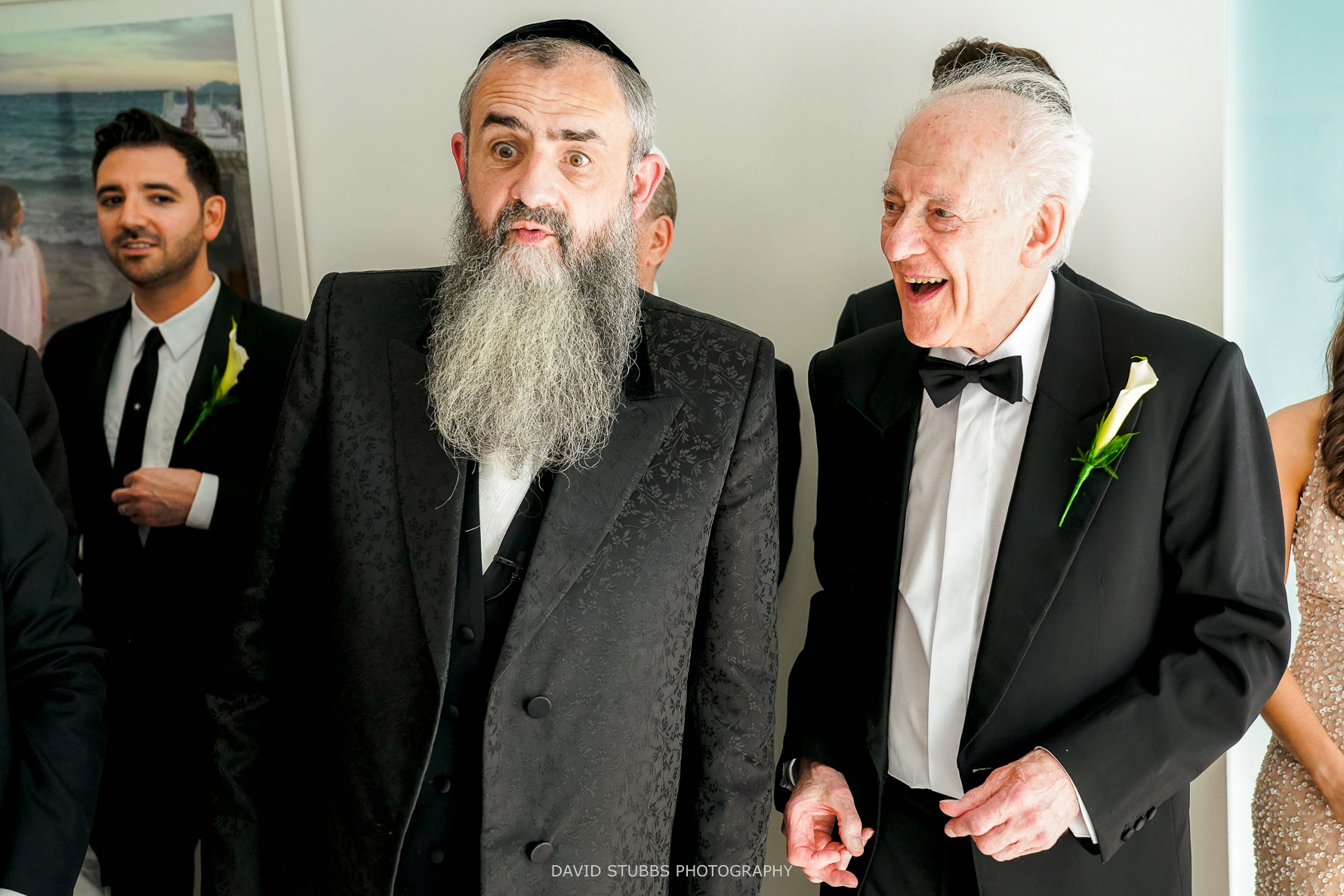 the rabbi pulling a funny face