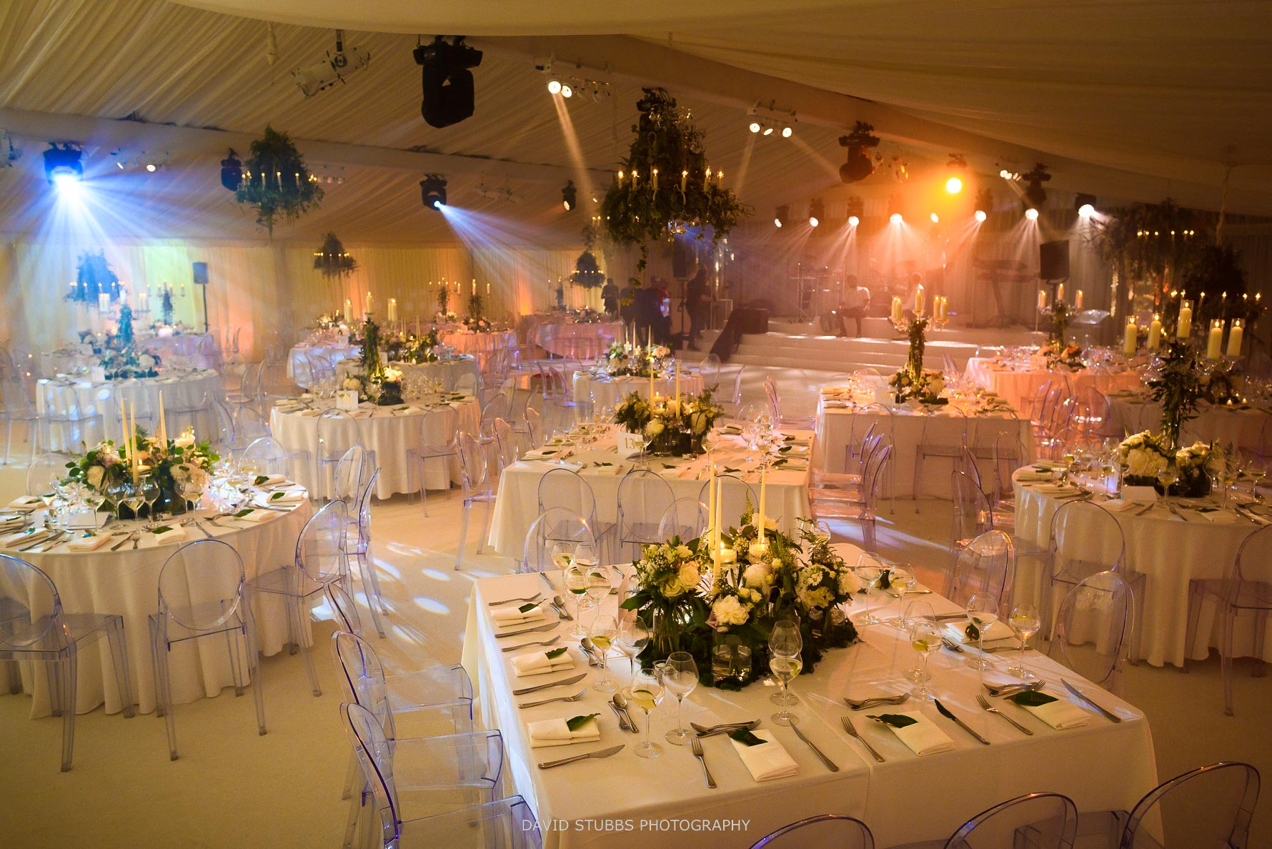 room set-up for meal and reception