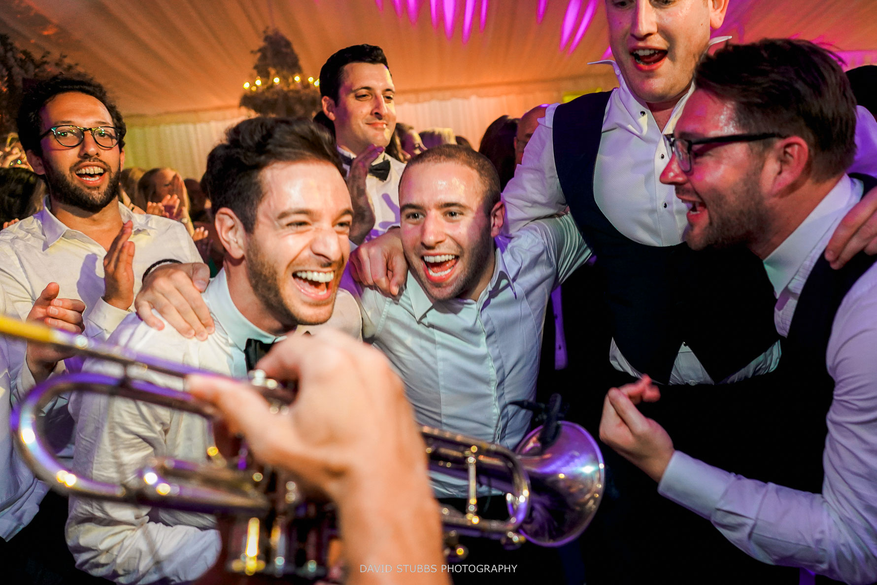 wedding guests having the best time