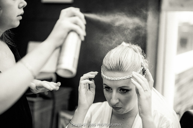 hairspray black and white