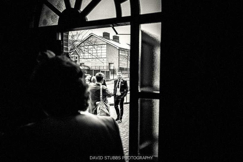 church door black and white