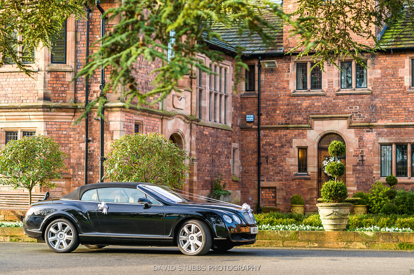 black wedding car