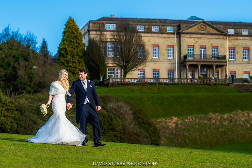 bride and groom shrigley hall