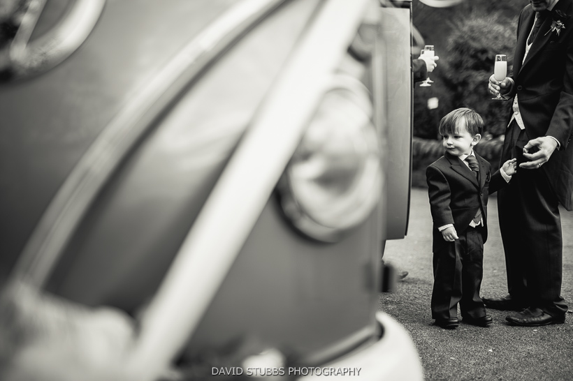 wedding car and little boy