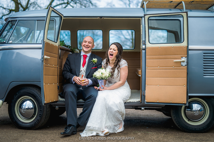 married couple sat in volkswagen