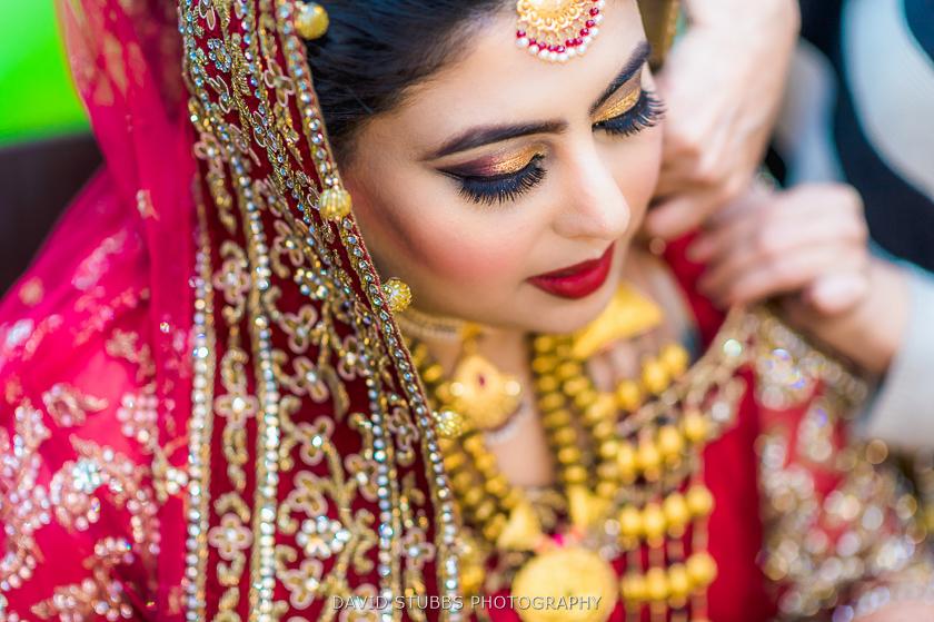 asian wedding bride close up