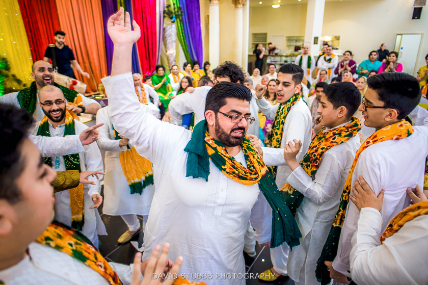 man dancing at wedding
