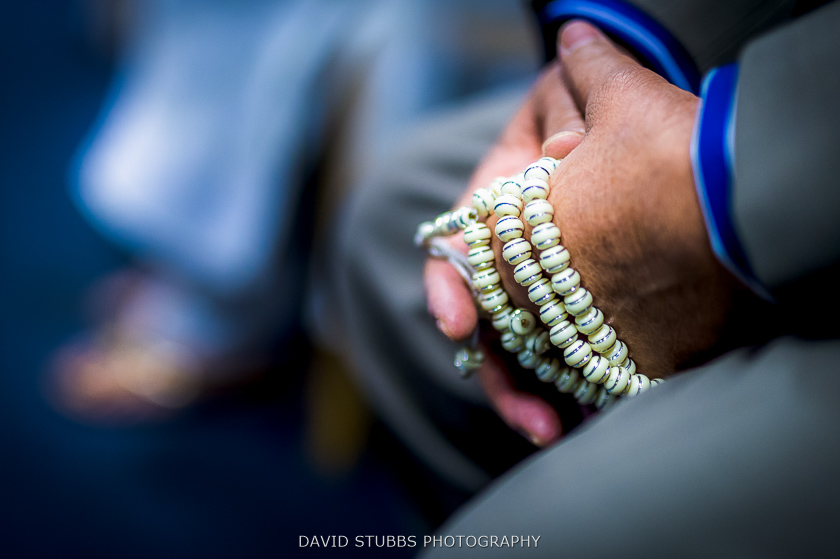 beads on hands