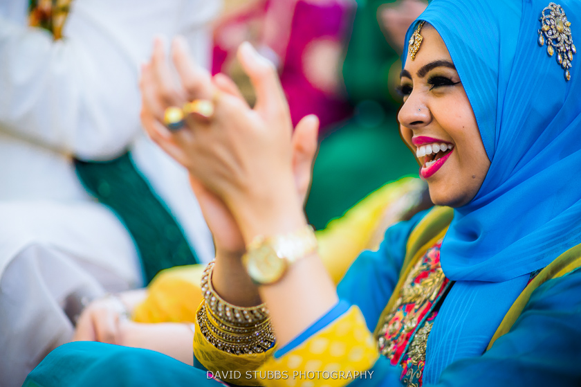 woman clapping colour photo