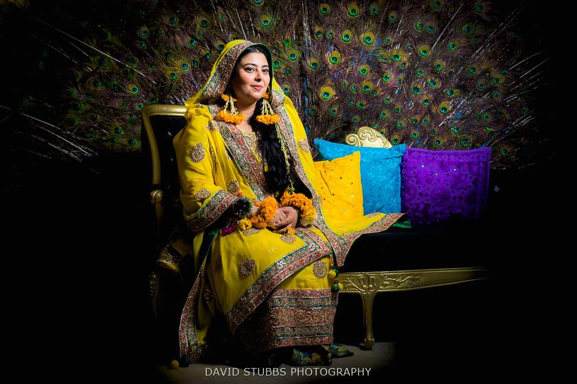colour portrait of bride