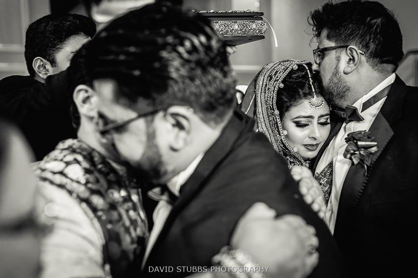 black and white photo asian wedding