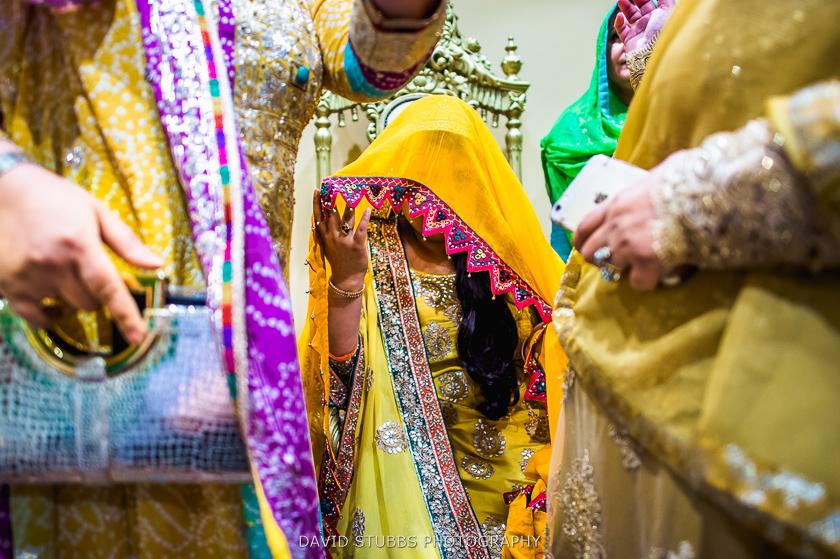 close up of wedding dresses