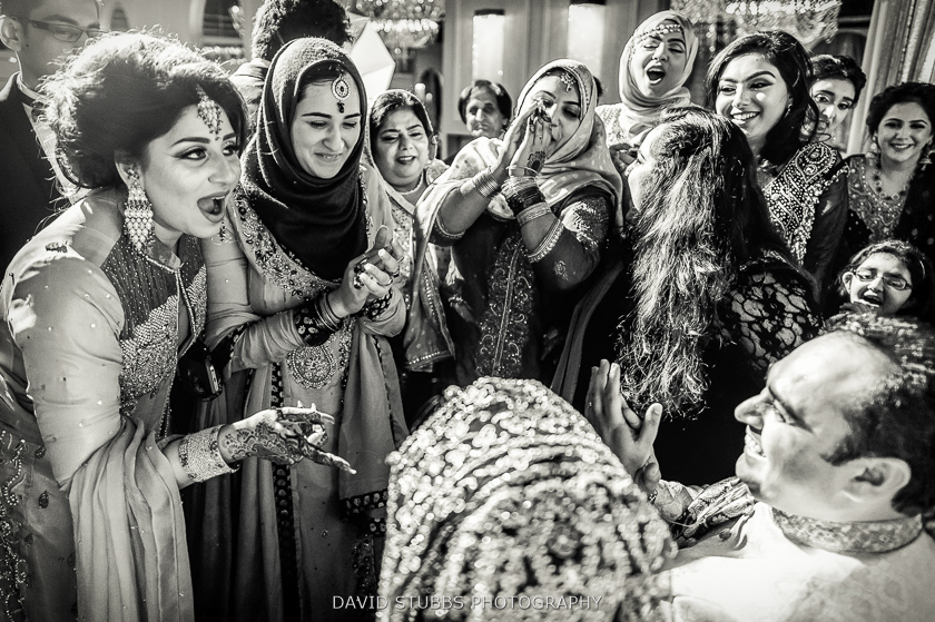 black and white manchester wedding photo