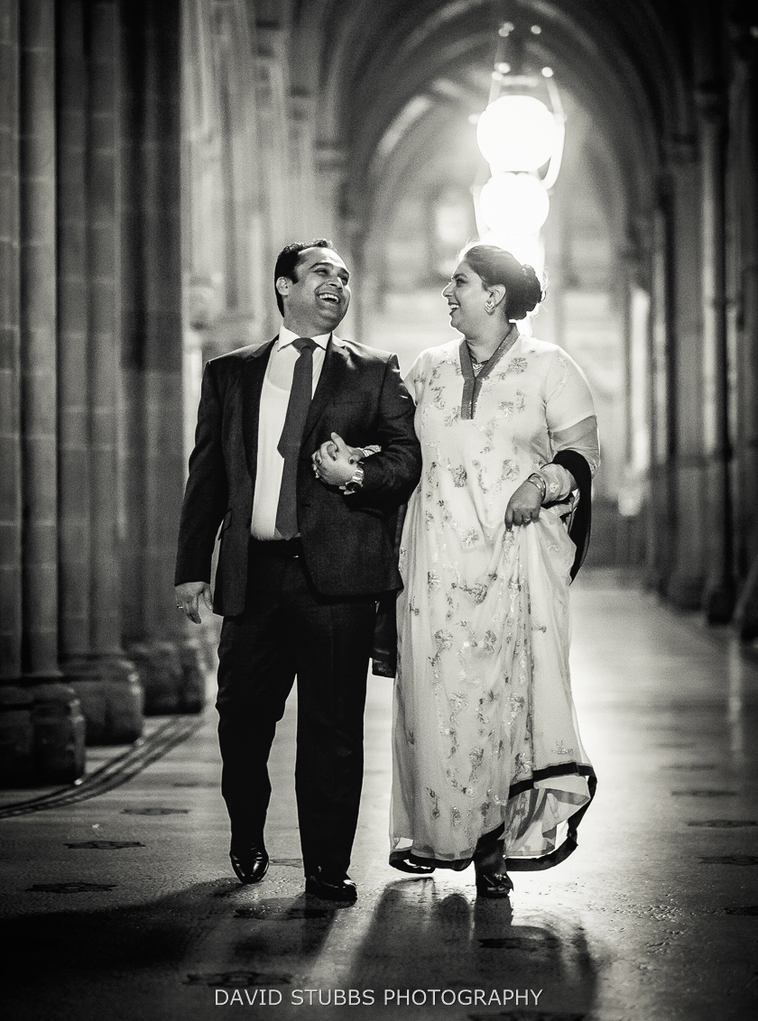 husband and wife in manchester town hall