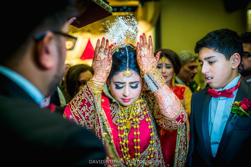 bride walking through