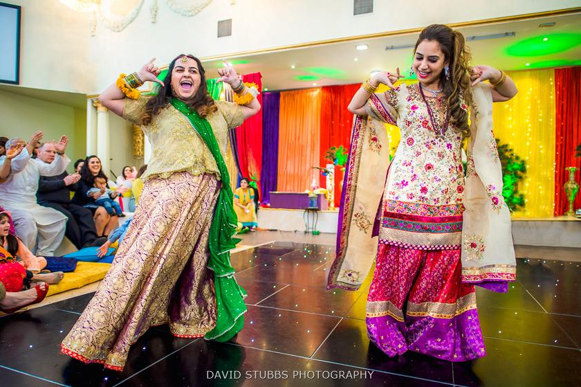 women dancing at banqueting hall