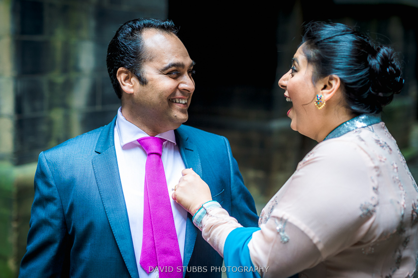 wife and groom in town hall