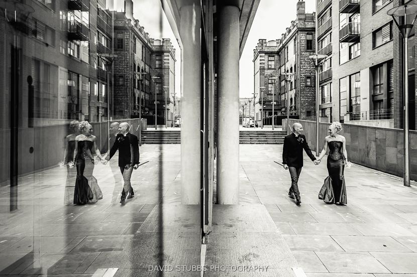 city centre reflection