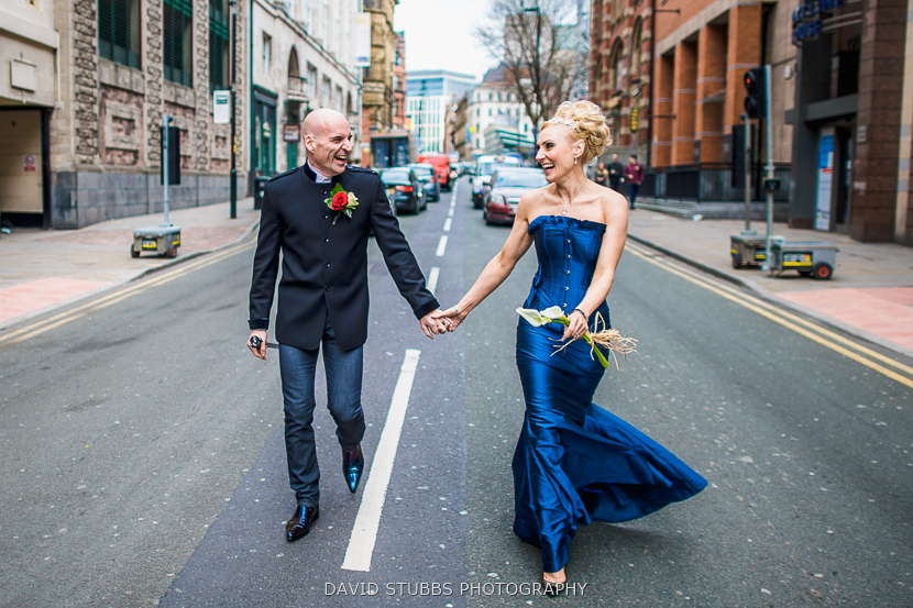 city centre wedding photography