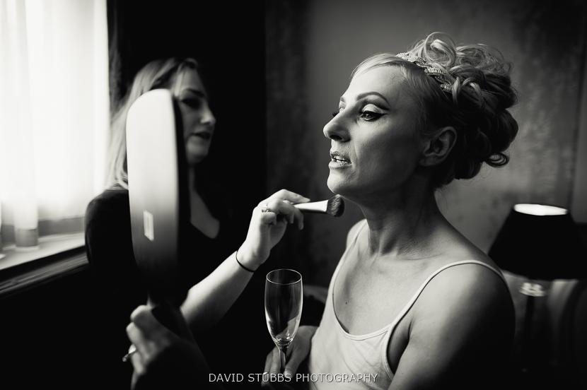 bride black and white photo