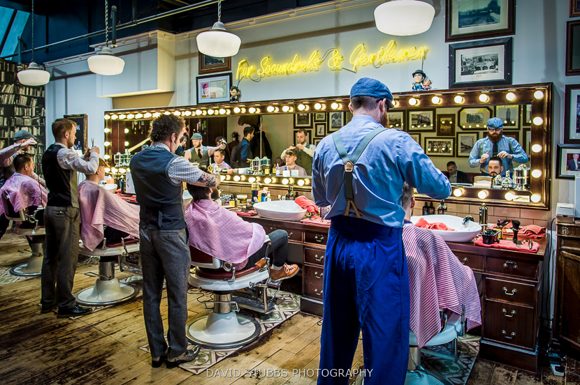 men getting hair cut
