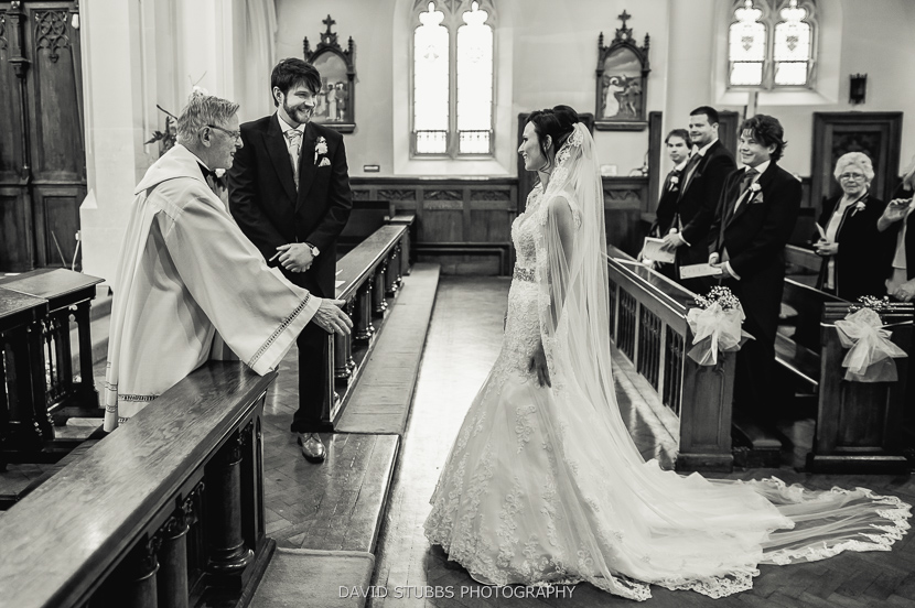 bride going up aisle
