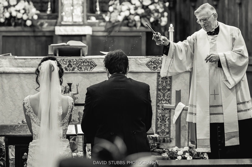 wedding service black and white