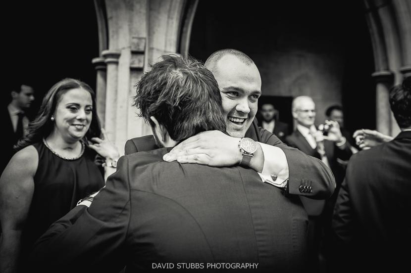 men celebrating wedding