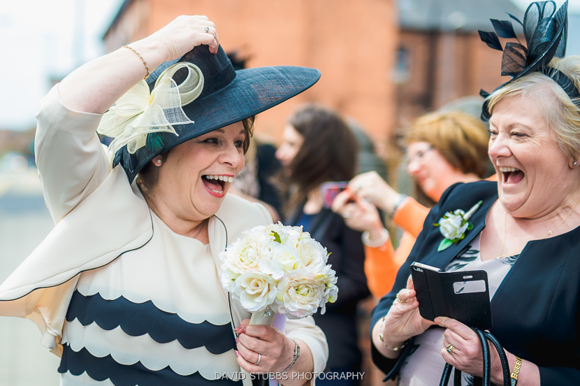 woman laughing colour photo