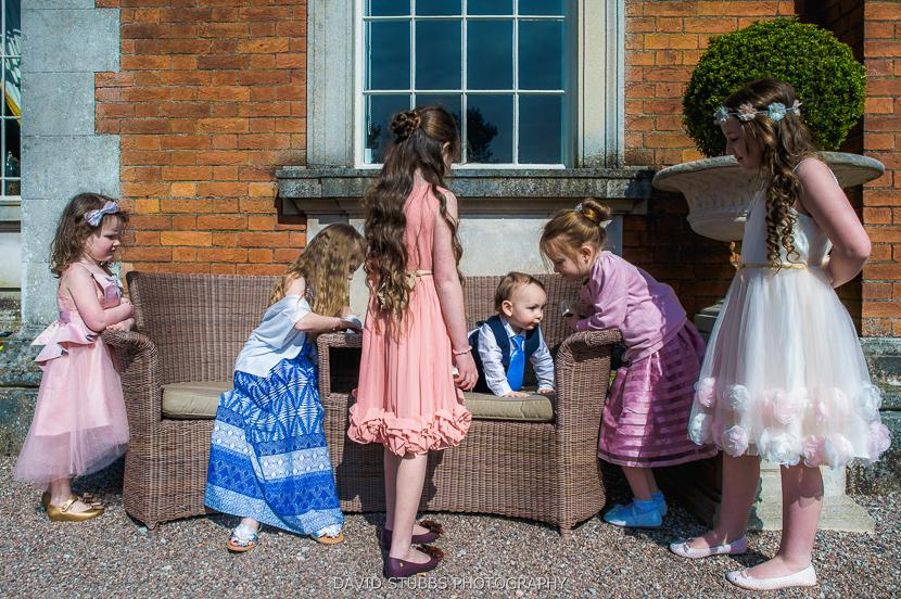kids playing at wedding