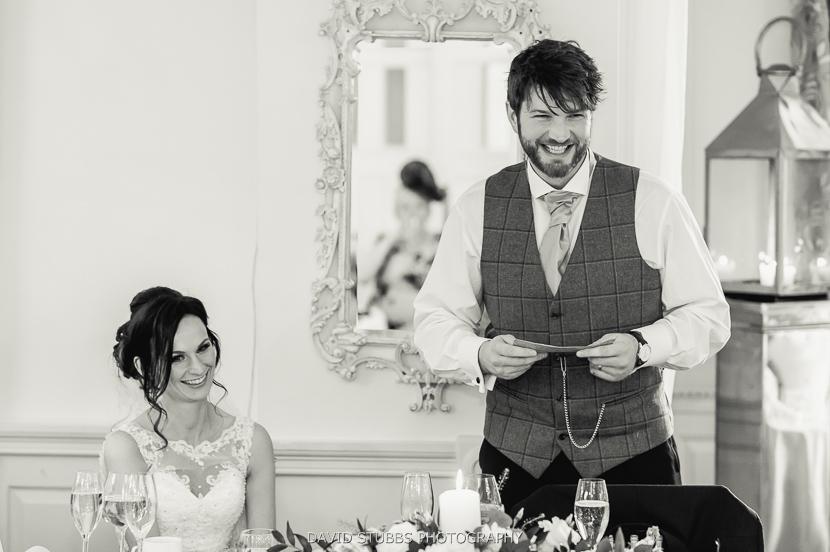 groom doing speech