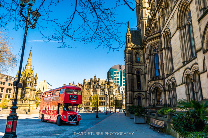 london bus at town hall