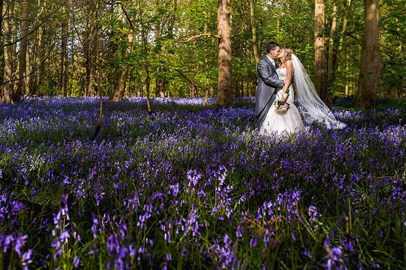 bluebell wedding photo hazelwood castle