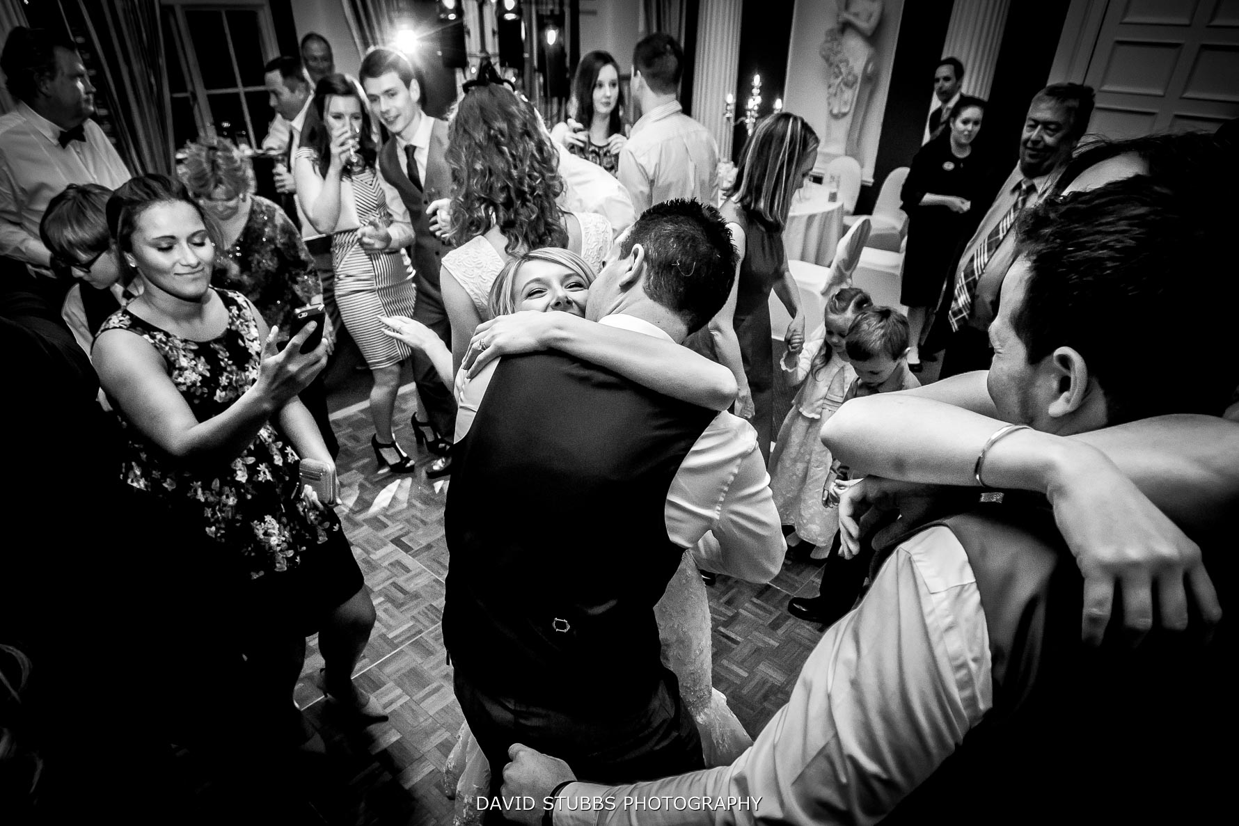 newlyweds on the dancefloor