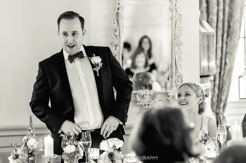 groom doing speech