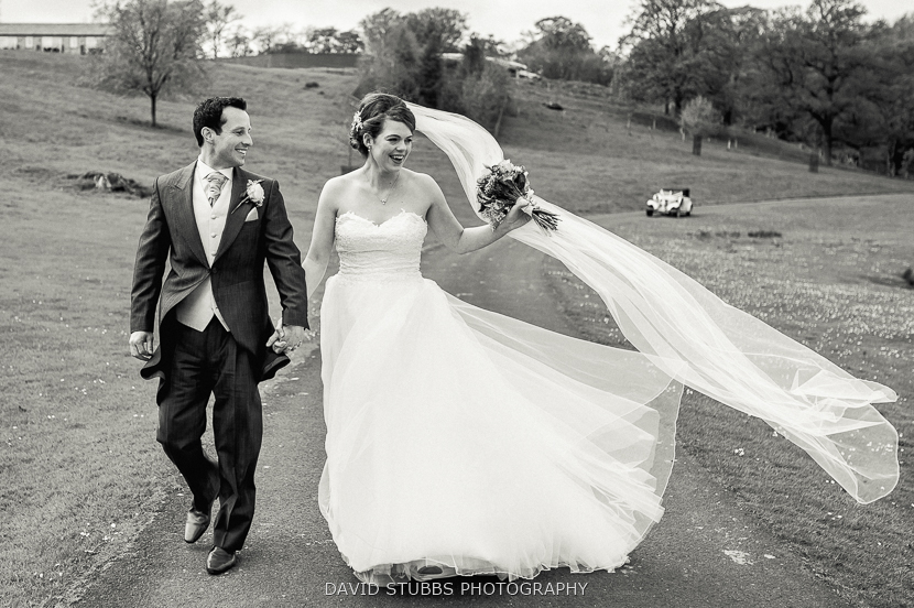 groom and wife walking